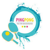 Ping-pong rackets and ball on grunge background. Stock Images