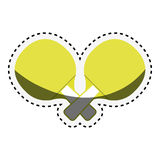 Ping pong rackets icon Stock Images
