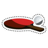 Ping pong rackets icon Stock Photography