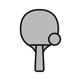 Ping pong rackets icon. Illustration design Royalty Free Stock Image