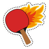 Ping pong rackets icon Stock Photo