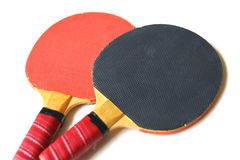 Ping-pong rackets isolated Royalty Free Stock Images