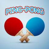 Ping pong rackets. Ping-pong rackets on light background. Vector illustration, EPS 10 Stock Photos