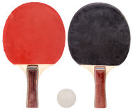 Ping pong set isolated. Background Stock Photo
