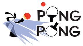 Ping Pong Sign Fotografía de archivo