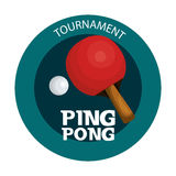 Ping pong sport emblem icon Stock Images