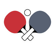 Ping pong sport emblem icon Royalty Free Stock Photo