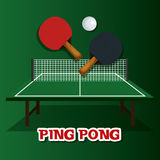 Ping pong sport emblem icon Royalty Free Stock Image