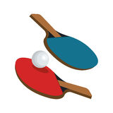 Ping pong sport emblem icon Stock Photo