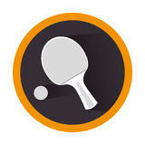 Ping pong sport emblem Royalty Free Stock Photo