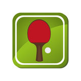 Ping pong sport emblem Royalty Free Stock Photos