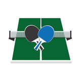 Ping pong sport emblem Stock Photos