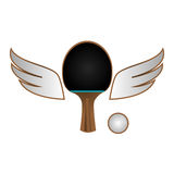 Ping pong sport emblem Stock Photography