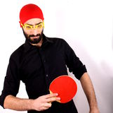 Ping pong and swimming cap Stock Photo