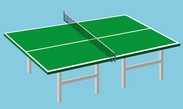 Ping-pong table stock illustration