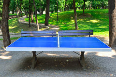 Ping Pong Table. In A Park Royalty Free Stock Photos