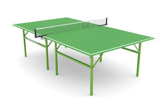 Ping-pong table. Green ping-pong table on white background. Hi-res digitally generated image Royalty Free Stock Images