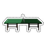 Ping pong table icon Stock Image