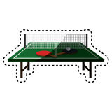 Ping pong table icon Stock Photos