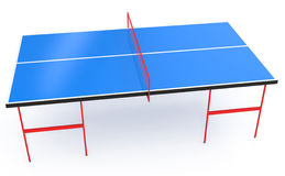Ping Pong Table isolated on white. 3d illustration Stock Images