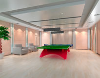 Ping Pong table in room, 3D render Royalty Free Stock Photography