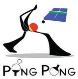 Ping Pong Table Tennis Imágenes de archivo libres de regalías