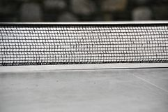 Ping pong - table tennis net Royalty Free Stock Images