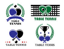 Ping-pong and table tennis symbols Stock Images