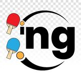 Ping pong table tennis vector logo / icons on a transparent background