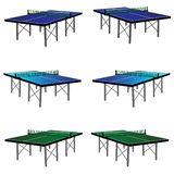 Ping pong table in three color stock illustration