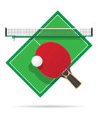 Ping pong table vector illustration Royalty Free Stock Image