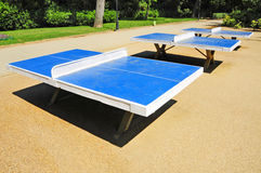 Ping-pong tables. Some ping pong tables in a public park Royalty Free Stock Photography