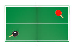 Ping-pong tennis table with Paddles Stock Photo
