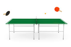 Ping-pong Tennis Table With Paddles Stock Image
