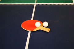Ping pong tools. Tools needed for a ping pong game Royalty Free Stock Images