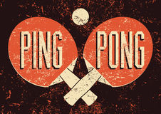 Ping Pong typographical vintage grunge style poster. Retro vector illustration. Ping Pong typographical vintage grunge style poster. Vector illustration Stock Photography