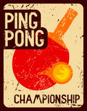 Ping Pong typographical vintage grunge style poster. Retro vector illustration. Royalty Free Stock Photo
