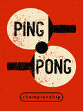 Ping Pong typographical vintage grunge style poster. Retro vector illustration. Stock Images