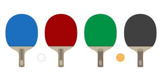 Ping pong vector icon logo table tennis paddles racket illustration. Cartoon stock illustration