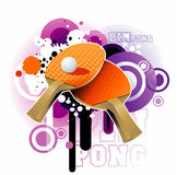 Ping pong vector illustration. Ping pong  illustration composition over a white background Royalty Free Stock Image