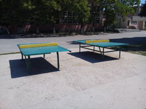 Ping-pong verde Fotografie Stock Libere da Diritti