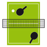Ping pong on white background Royalty Free Stock Photos