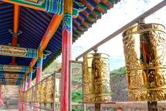 PINGAN, CHINA - Jul 9 2014: Mani,wheel at Shazong Ritod Monaster Royalty Free Stock Images