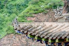PINGAN, CHINA - Jul 9 2014: Roof of Shazong Ritod Monastery(Xiaz Royalty Free Stock Images