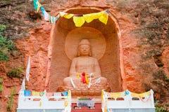 PINGAN, CHINA - Jul 9 2014: Shazong Ritod Monastery(Xiazongsi). Stock Photo