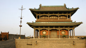 Pingao gatetower. An old gatetower of Pingyao in China royalty free stock photography