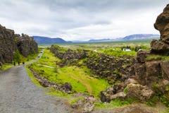 Pingellir Iceland w lecie Zdjęcie Stock