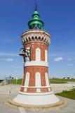 Pingelturm, исторический маяк на гавани Бремерхафена Стоковое фото RF
