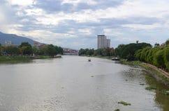 Pingflod, Chiang Mai Royaltyfri Foto