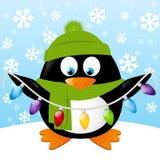 pingüino lindo de la historieta Foto de archivo libre de regalías